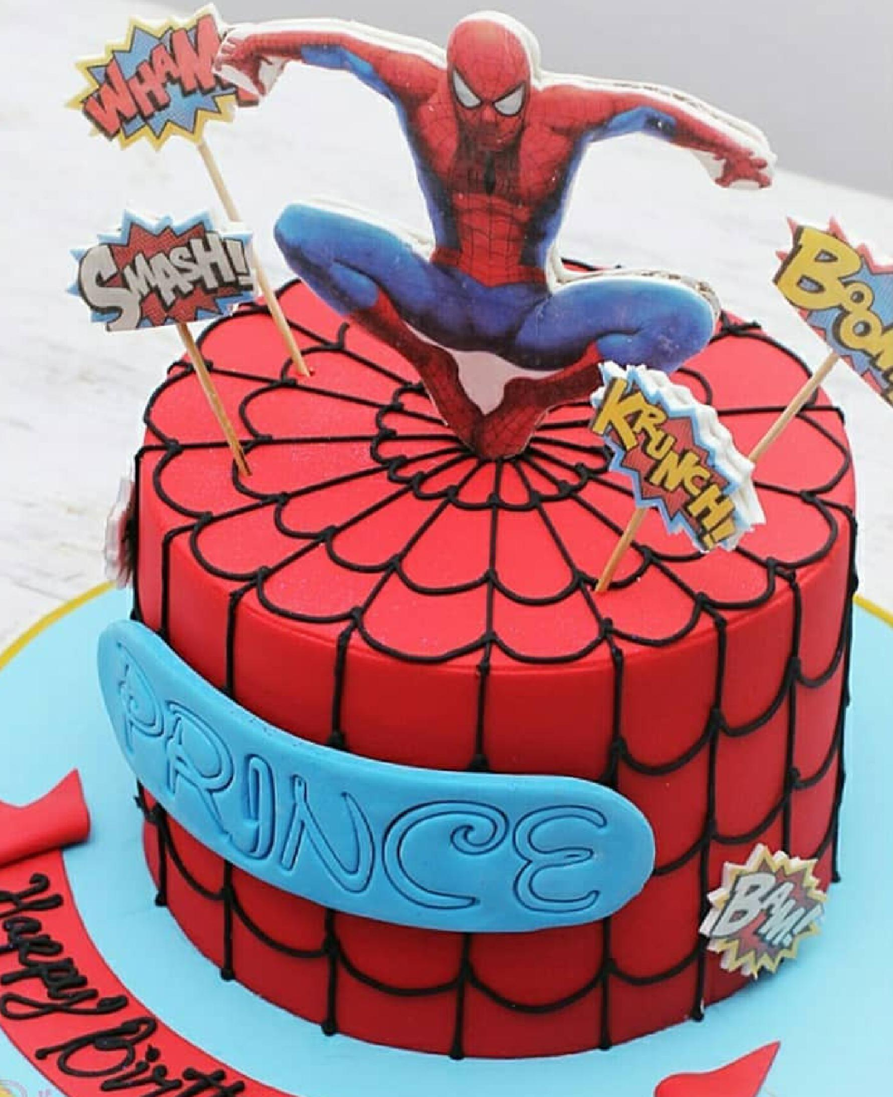 Spiderman Fondant Cake Dainty Affairs Bakery Cakes Cupcakes