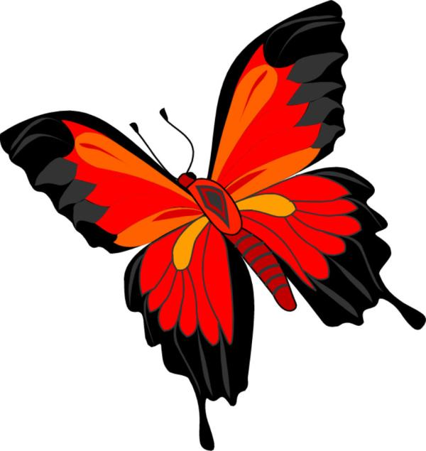 Cartoon Butterflies Clip Art