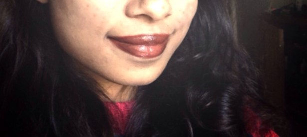 Wine coloured lipstick