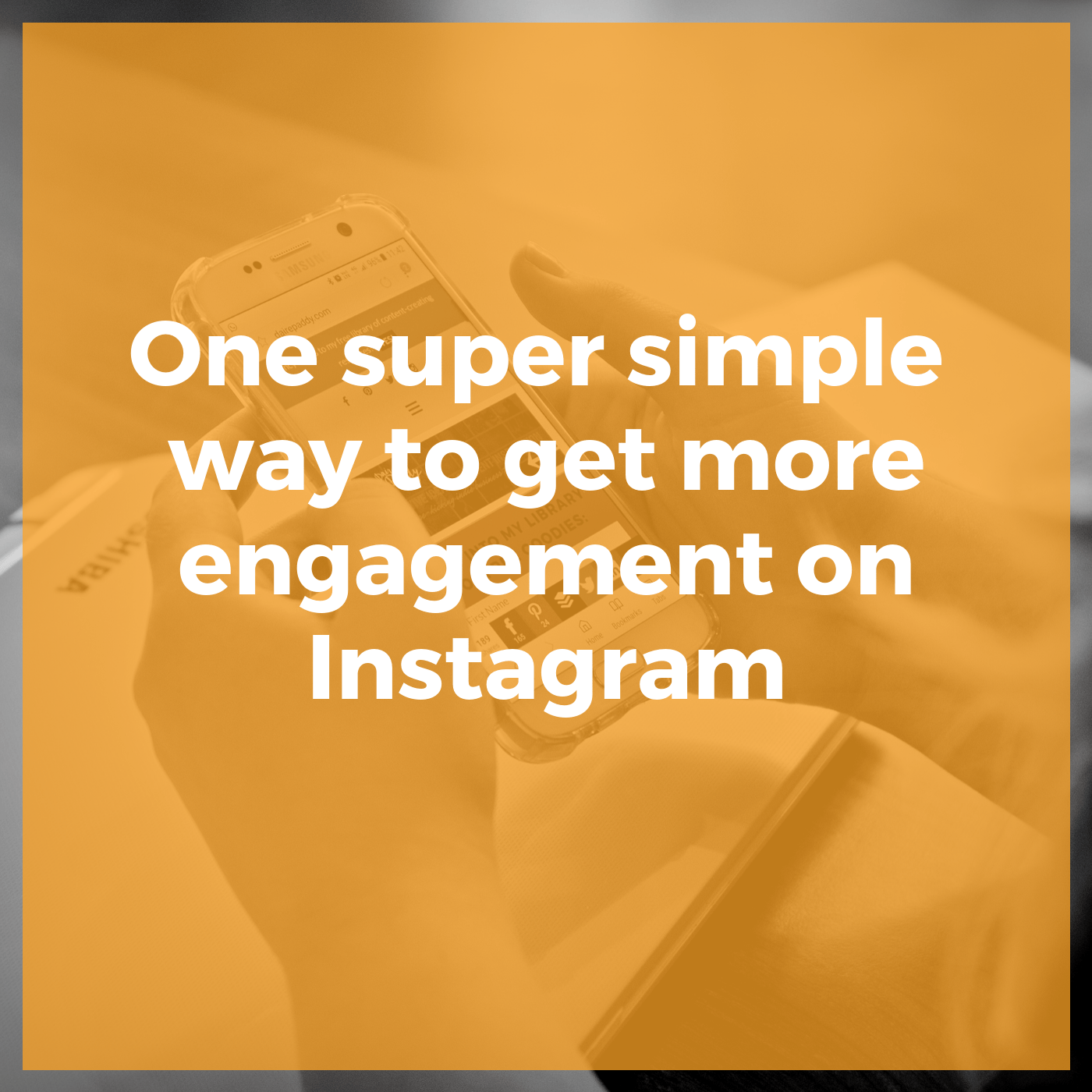 super simple way to get more engagement on Instagram