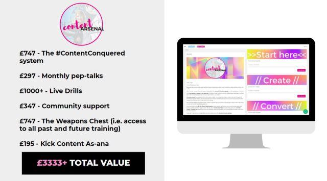 Content Arsenal - value breakdown