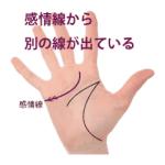 感情線の枝分かれ ⑤起点の上下に別の支線が出ている手相(ユーモア線)