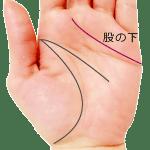 感情線が中指と人差指の指の股の下で終わる手相