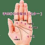【手相紋占い②】手のひらにアスタリスク*のようなスター(星紋)がある手相