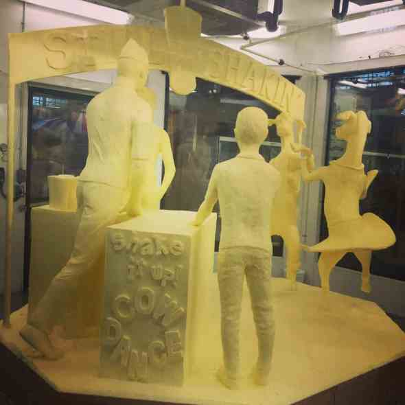 milkshake butter sculpture at PA Farm Show.