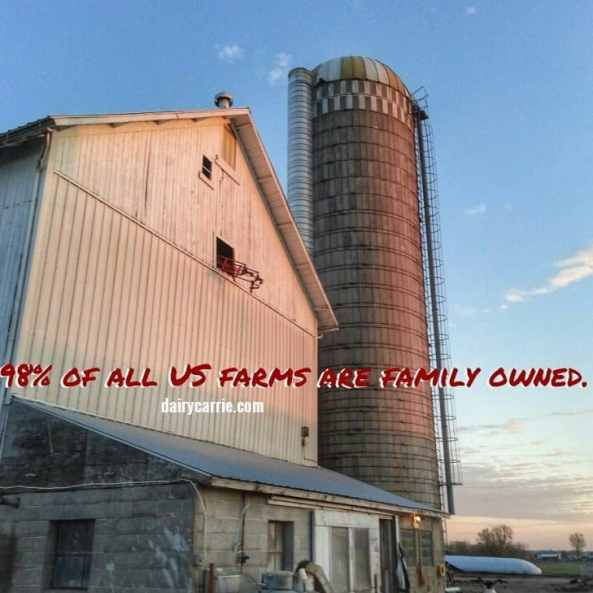 98% of all US farms are family owned.
