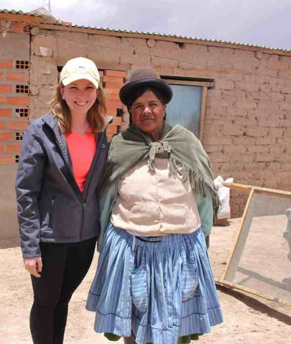 Kate Griswold and Bolivian Woman
