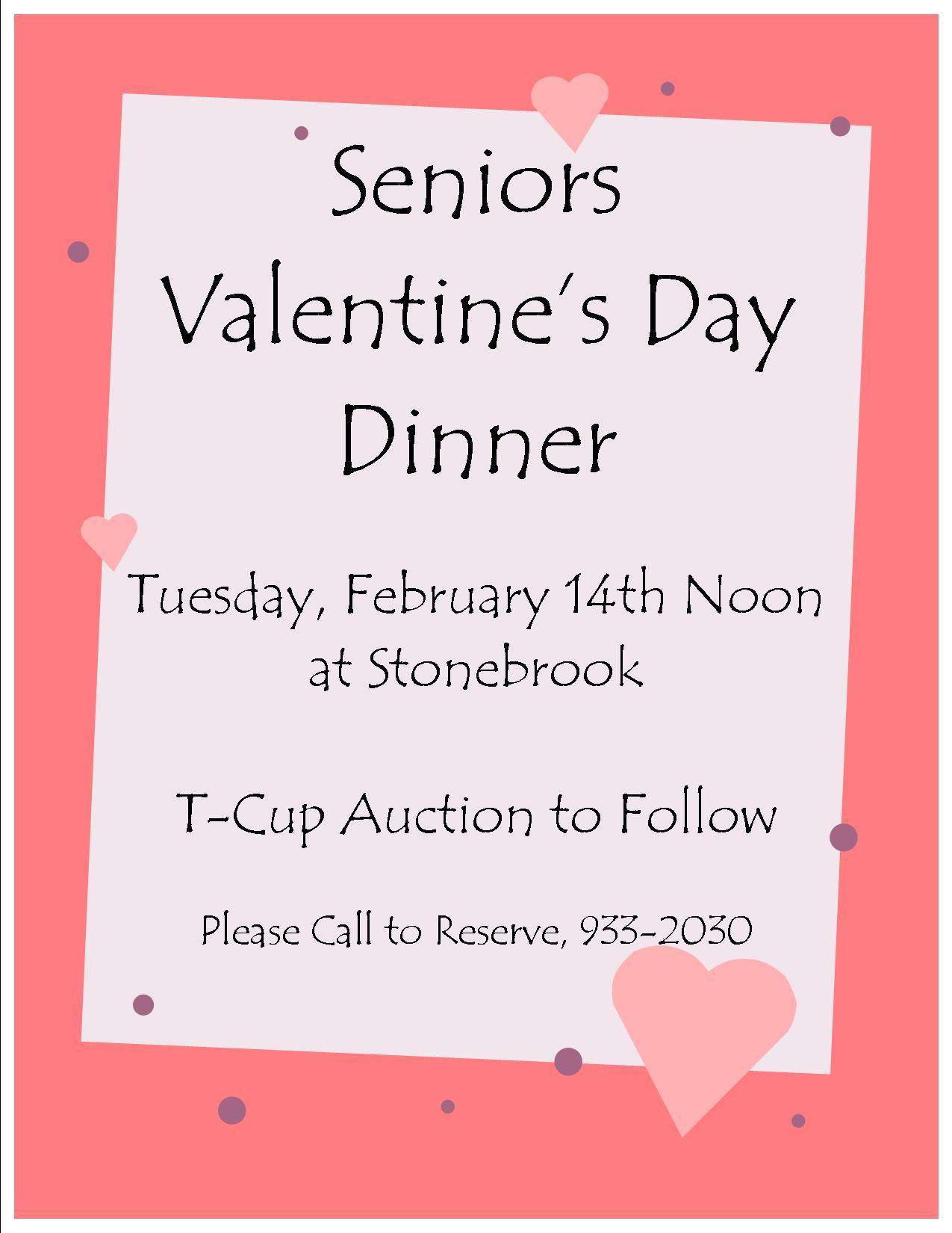 Seniors Valentines Day Dinner