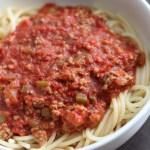 Dairy free Egg free spaghetti sauce pasta