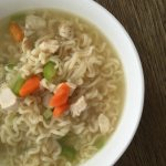 Egg Free Chicken Ramen Noodle Soup