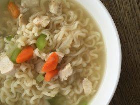 Egg Free Chicken Ramen Noodle Soup