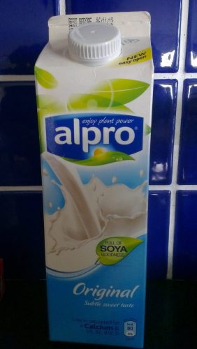 Alpro original from the fridge