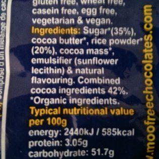 Moo Free Chocolate Drops Ingredients