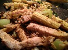 Pork and veg stir fry