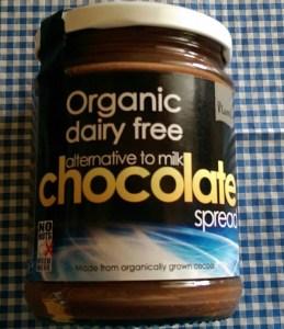 Organic dairy free chocolate spread