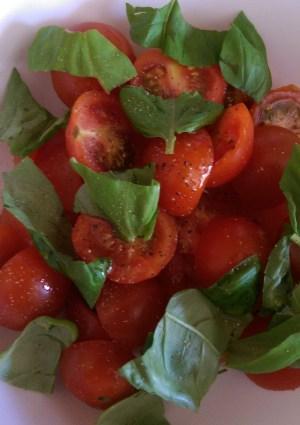 Cherry Tomato and Basil Salad