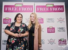 With Caroline from BiteAppy who presented me with the award! Photo Credit: Allergy Blog Awards UK