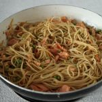 smoked salmon and lime spaghetti