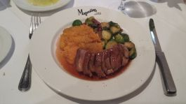 Magnolia entree - Duck with Brussel sprouts