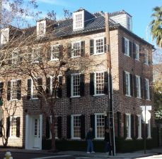 Corner home in historic district, Charleston, SC