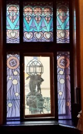 Mayor Hall Left Stained Glass