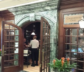 Entrance to Charleston Grill