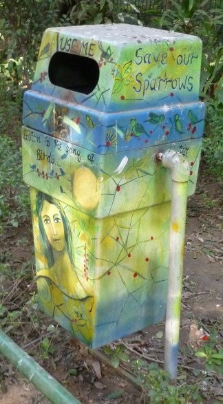 Colorful Trash Bin in Lodi Gardens