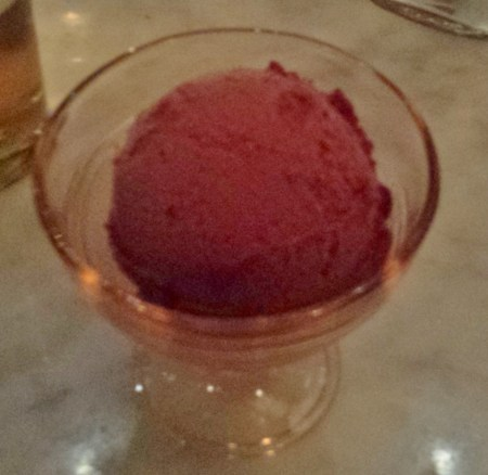 Sorbet Dessert at the Ordinary