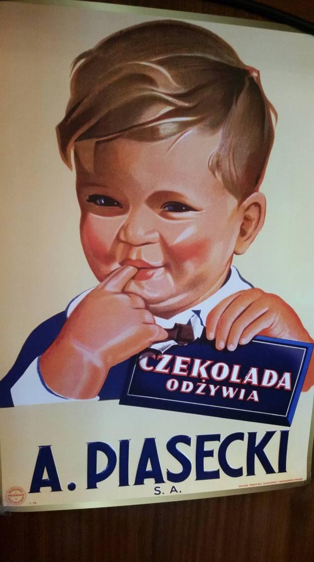 A Classic Wawel Chocolates Sign