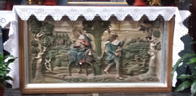 The Flight into Egypt on Chapel Atlar in St. Bernard's Church