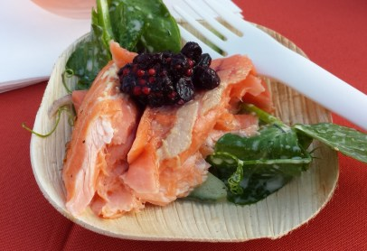 Salmon with Berries