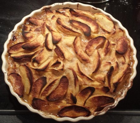 Apple Tart Baked and Ready for Meringue
