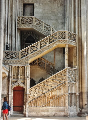 Gothic Staircase Rouen Cathedral