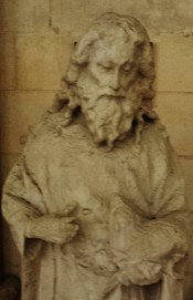 Statue of Saint John the Baptist Rouen Cathedral