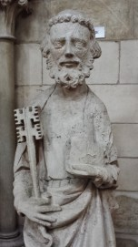 Statue of Saint Peter Rouen Cathedral