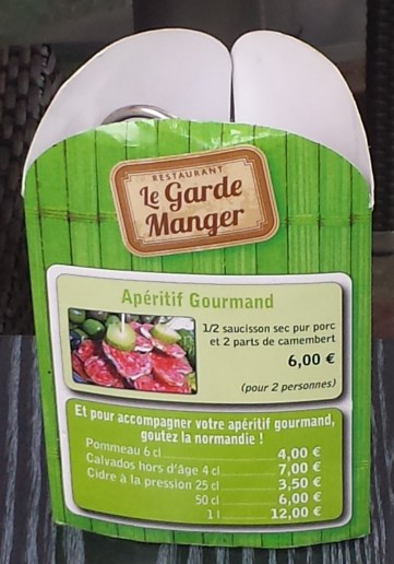Le Garde Manger Table Sign