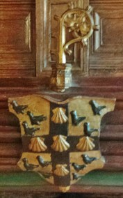 Family Crest Above Fireplace