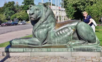 Lion Guarding the Monument