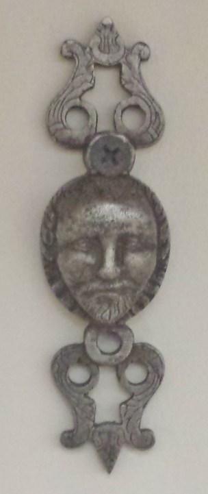 Wrought Iron Head Decoration