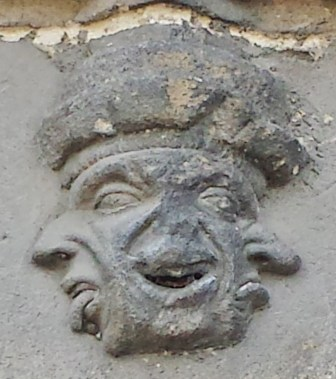 Grotesque on Exterior of Eglise Notre-Dame