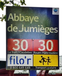 Jumiege Abbey Bus Sign