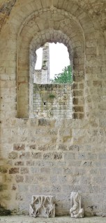 Jumieges Abbey Window and Loose Stones