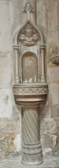 Ornate Carved Water Station Eglise Notre-Dame