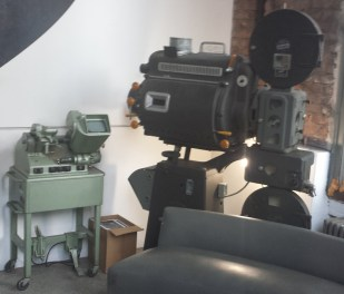 Antique Filmmaking Gear in Anthology Film Archives Atrium