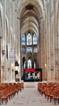 Church of St Ouen Interior with Iconic Klein Image