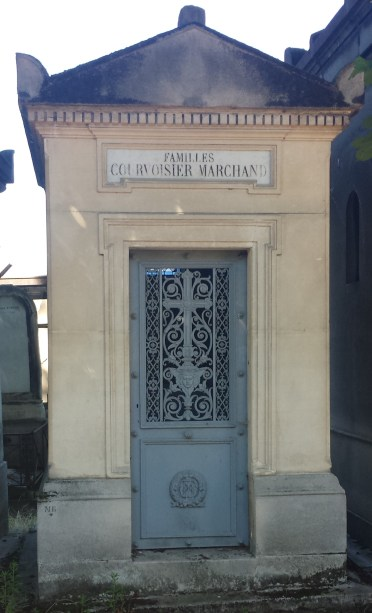 Mausoleum with Ornate Wrought Iron Door