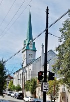 St. George Episcopal Church from the rear