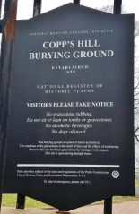 Copp's Hill Burial Ground Sign