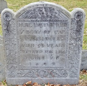 Copp's Hill Gravestone - Oldest One I Found