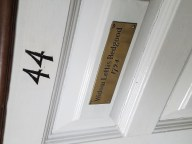 Old North Church Pew Nameplate 2